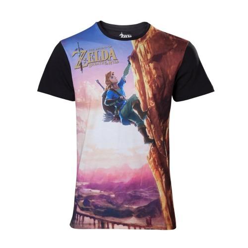 Tričko Zelda Breath of the Wild - All Over Link Climbing