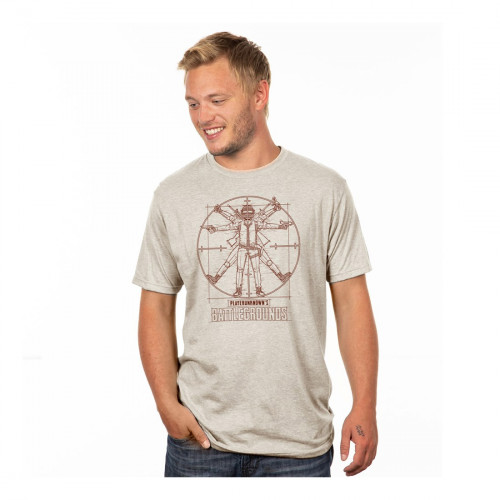 Tričko PUBG - Vitruviánský muž